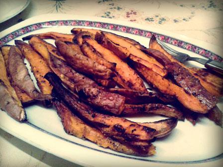 pieczone bataty, pieczone pataty, słodkie ziemniaki