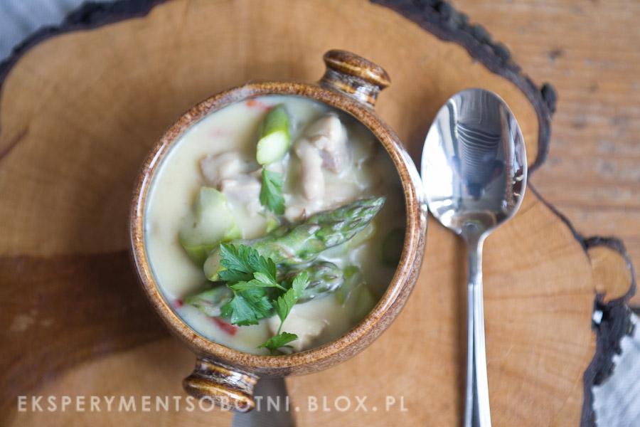 zupa, zielone, drób,