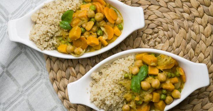 curry, kokosowe mleczko, cieciorka,