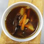 zupa, gęś, grzyby suszone
