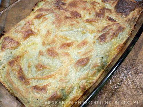 lasagne z sosem bolońskim z wierzchu