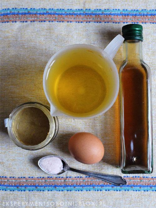 jajko, olej, musztarda, sól