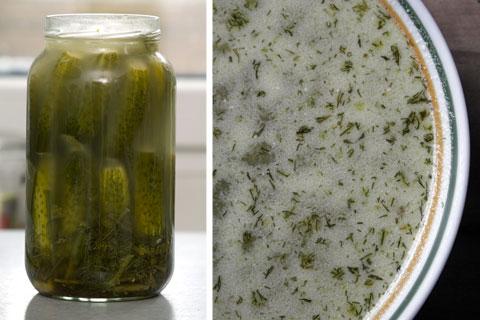 zupa z ogórków małosolnych, ogórki, kiszenie, fermentacja, kuchnia, przepisy,
