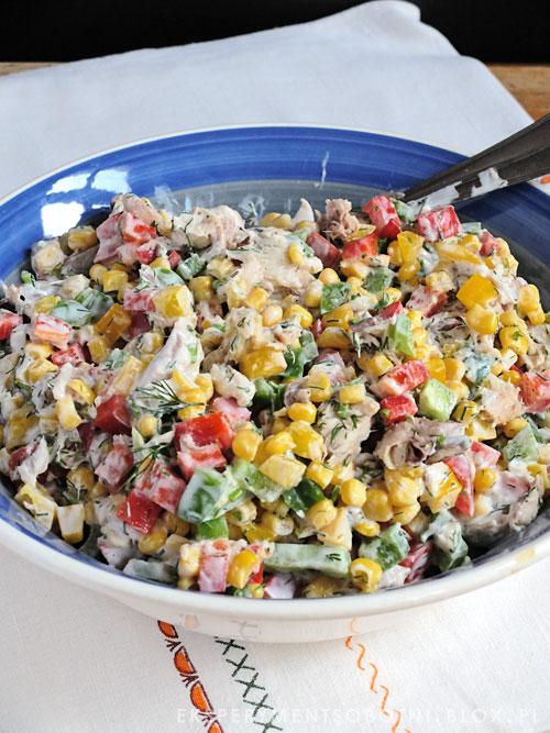 makrela, dorsz, papryka, koperek, jogurt