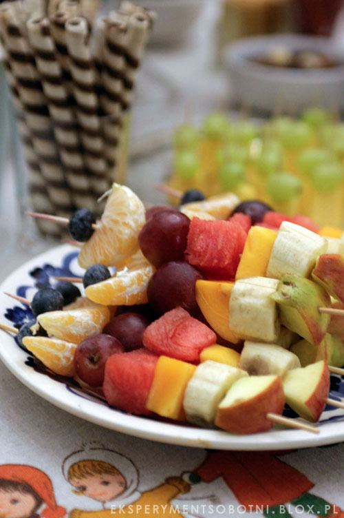 owoce, zabawne dania, dla dzieci, kinderbal, menu,