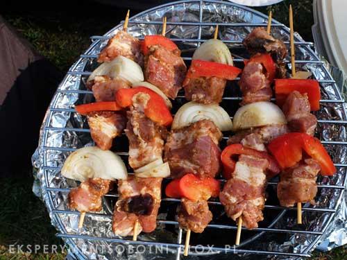 grill, mięso, papryka, marynata,